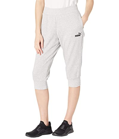 PUMA Essentials Capri Sweatpants (Light Gray Heather) Women