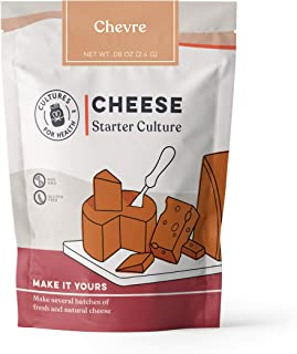 Chevre Cheese Starter Culture   Cultures for Health   Tangy, delicious homemade goat cheese   No maintenance, non-GMO
