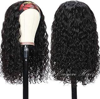 Headband Wig Human Hair Half Wigs for Black Women Glueless 9A Brizilian Virgin Deep Curly Headband Wig None Lace Front Wig...