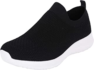 Fsports Latest Collection Black Colour Garnet Series Lycra Mesh Casual Shoes for Women