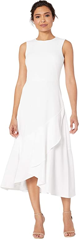 19c2a9f02166 Calvin Klein. Sleeveless Faux Wrap Gauze Dress.  139.00. New. White