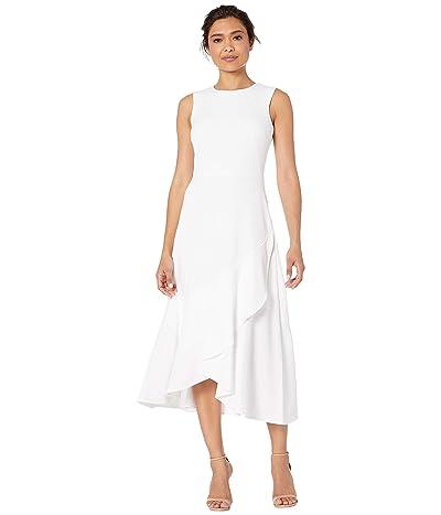 Calvin Klein Ruffle Hem Dress (White) Women