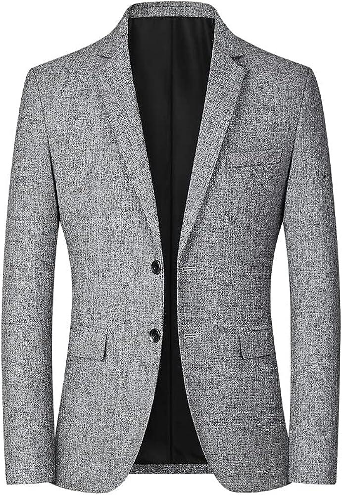 Catheive Men's Sport Coats & Blazers Casual Slim Fit 2 Button Business Suit Jacket