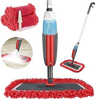 Balai lave sol avec vaporisateur,Winpok Microfibre balais serpillère pour Nettoyage du Sol en Spray Balai de Pulvérisation...