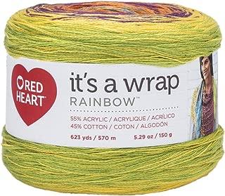 RED HEART Wrap, Rainbow Yarn