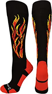 Flame Soccer Style Over The Calf Athletic Socks (Multiple Colors)