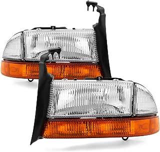 ACANII - For 1997-2004 Dodge Dakota 1998-2003 Durango Headlights Bumper Lights Signal Lamps Driver + Passenger Side