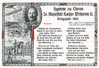 Cartel de Chapa genérica 30 x 20 cm Hymne para honrar a su Majestät Kaiser Wilhelm II. Cartel