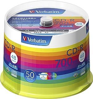 バーベイタムジャパン(Verbatim Japan) 1回記録用 CD-R 700MB 50枚 ホワイトプリンタブル 48倍速 SR80SP50V1
