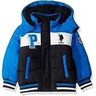 U.S. Polo Assn. Boys' Bubble Jacket with Rib Knit Cuffs