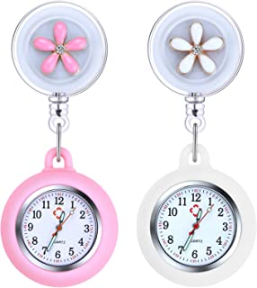 Vicloon Orologio da Infermiere, 2Pcs Orologio da Taschino Infermieri in Silicone, Infermieri Fob Medical Watch con Spilla ...