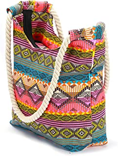 CIOOU large Beach Bags for Women Straw Beach Bags and Totes with Zipper for Pool Gym Travel Daily Bags, Waterproof Lining