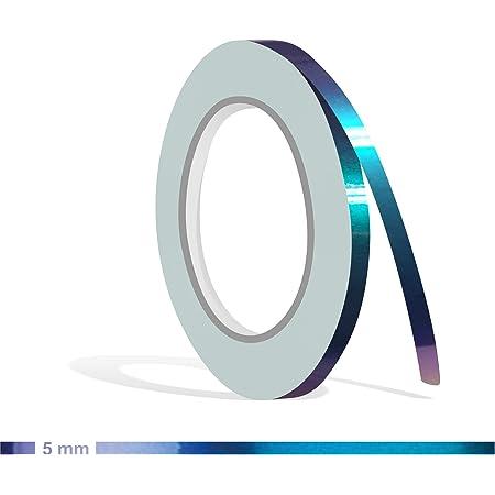 Siviwonder Zierstreifen Shift Effect Marine Blau Violett Glanz In 5 Mm Breite Und 10 M Länge Aufkleber Folie Für Auto Boot Jetski Modellbau Klebeband Dekorstreifen Flip Flop Autofolie Farbwechsel Auto
