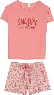 Pijama Blusa + Shorts, Malwee, Feminino
