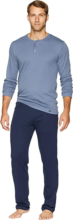 Narius Long Sleeve Henley Pajama Set
