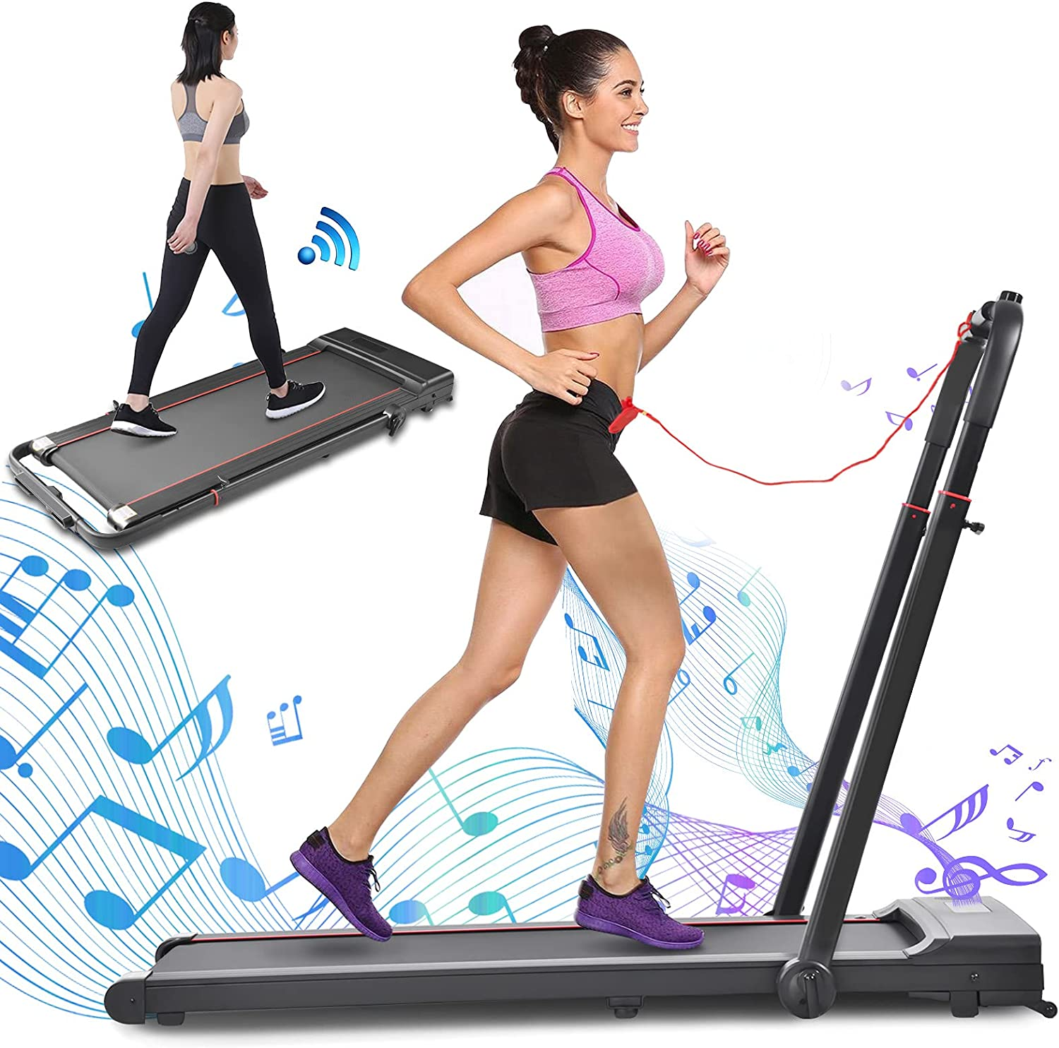OneV Animer and price revision FT 2 in 1 Folding Popular brand Under Treadmill 2.0HP Desk Electric Tread