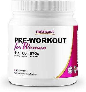 Nutricost Pre-Workout Powder for Women Strawberry (60 Serv)