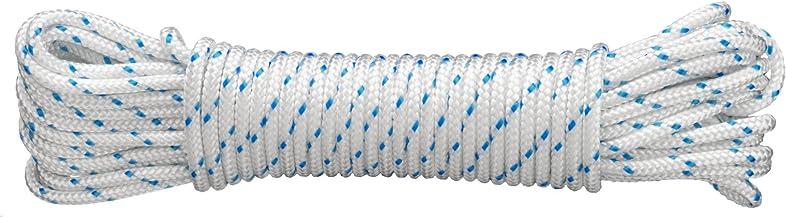 Connex DY2702880 Mehrzweckseil, 4.0 mm x 20 m, gefertigt nach DIN 83307, weiß-blau