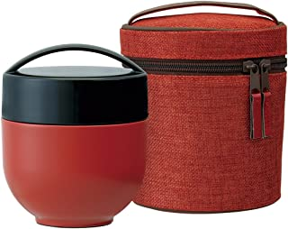 Japanese BENTO-BAKO,Thermal Lunch Box with Carrying Bag,Elegant Plum Red (japan import)