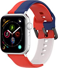 Hazevaiy colorful silicone replaceable strap compatible with apple watch Series 6 5 4 3 2 1 SE for iWatch 44mm 42mm 40mm 3...