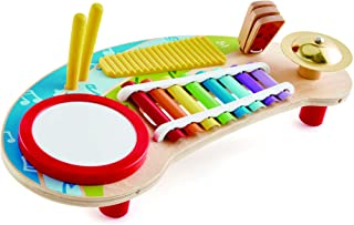 Hape Mighty Mini Band | Toddlers & Kids Multiple Musical Wooden Instrument Set