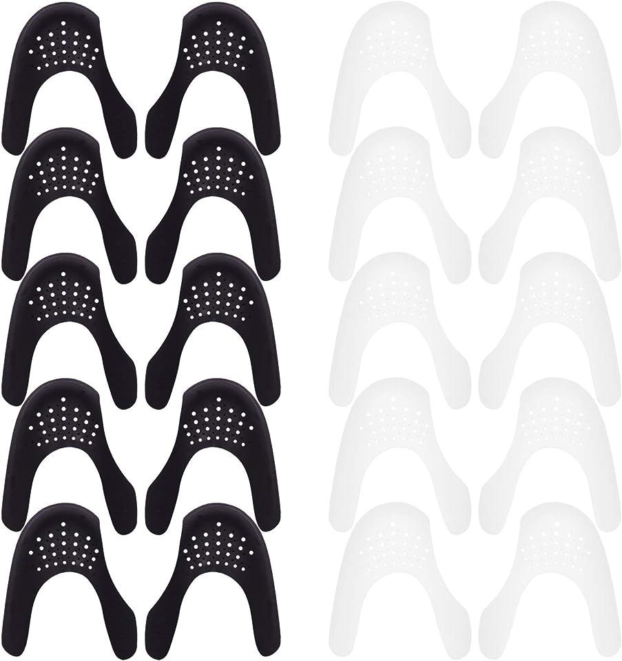 SUBANG 10 Pieces Shoe Creases Protector Anti-Wrinkle Shoes Creases Protector Toe Box Decreaser for Men's 7-12 Women's 5-8 (S)