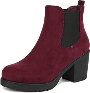 1c7a830a89a Amazon.com  Red - Ankle   Bootie   Boots  Clothing