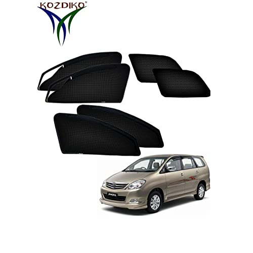 Kozdiko Car Window Sun Shade for Toyota Innova (Set of 4, Black)