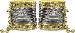 اساور لاتكان البنجابية المعدنية بنمط جانجرو من ماتش-مور لكارفا شوث وملابس الزفاف للنساء والبنات