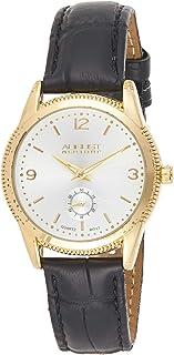 ساعة اوغست ستاينر كلاسيك سويسرية للنساء - هيكل ذو حافة معدنية مطلية مع مينا اخرى صغيرة بحزام جلدي أصلي