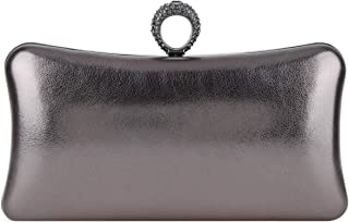 Fawzia Woman Evening Clutch With Rings Knuckle Purses And Handbag
