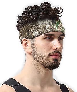 Diadema y banda elástica Mens Headband de hombres y diadema deportiva para correr, ejercitarse y dominar el rendimiento de tu competencia; se estira y absorbe la humedad