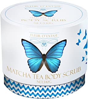 100% Natural Matcha Green Tea Scrub 12 oz with Organic Matcha Green Tea Powder, Olive Oil – Effective Therapy Against Stretch Marks, Acne & Cellulite (12 oz)