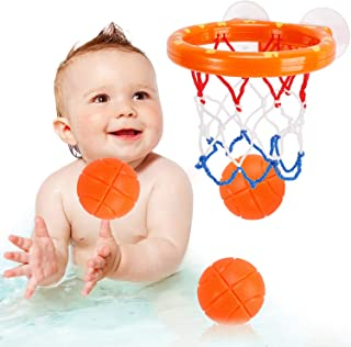 NASHRIO Bath Toys Fun Basketball Hoop & Balls, Basketball Games in Bathtub Swimming Pool for Toddlers Boys and Girls 2-5 Y...