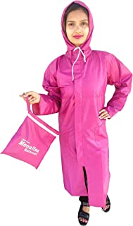 Women's Raincoat Pink with Carry Bag