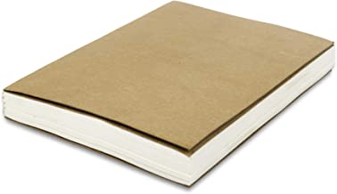 Blank Paper Refill Notebooks - for Moonster Refillable Leather Journal – Eco Friendly Acid-Free and Tree-Free Recycled Cotton Sheets A5 Unlined Notepad 8.25 x 5.75 Inches with 240 Smooth Pages