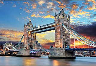 Jigsaw Puzzles for Adults 1000 Pieces Tower Bridge Puzzle - Family Funny Decompression Games