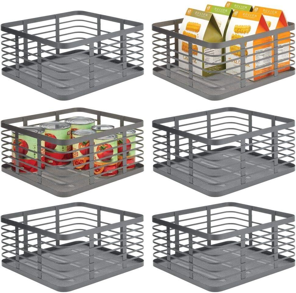 Surprise price mDesign Modern Decor Metal Wire Bin Baske Long-awaited Organizer Food Storage