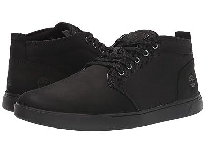 Timberland Groveton Leather and Fabric Chukka (Blackout Nubuck) Men