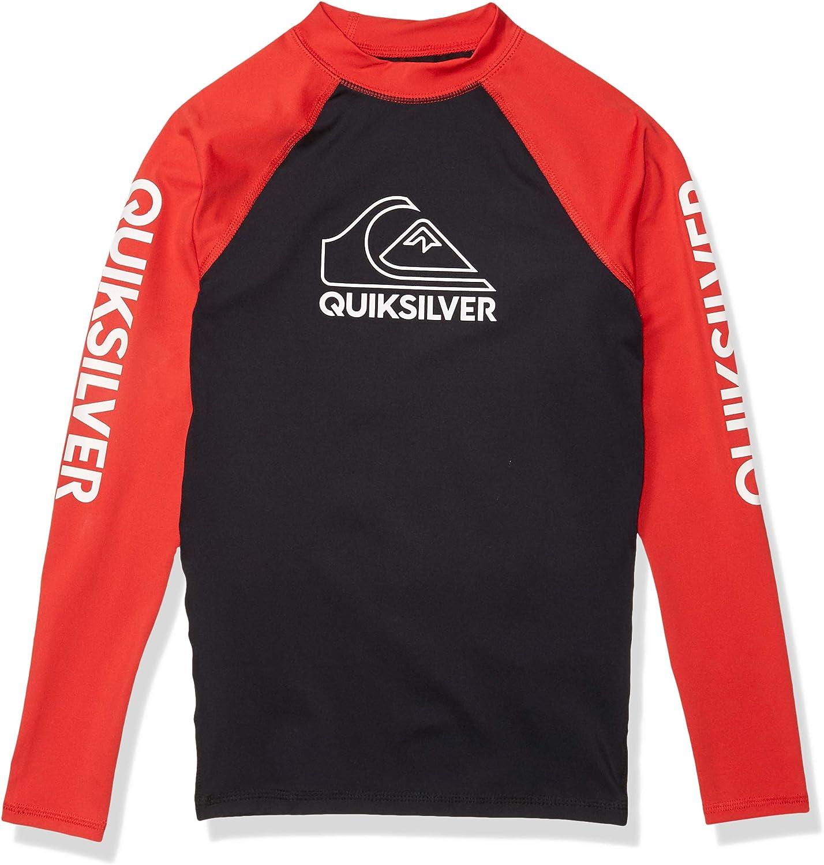 Quiksilver Boys' Big Tour Long Sleeve Youth Rashguard Surf Shirt