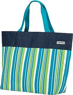 anndora XXL Shopper dunkelblau Limette - Strandtasche Schultertasche Einkaufstasche