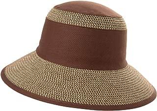 Comhats Womens Braided Summer Sun Hat UPF Protection Panama Fedora Outdoor Beach Hiking