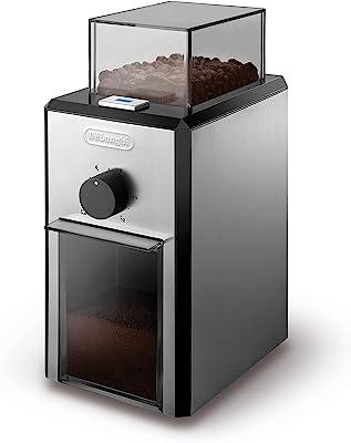 Delonghi Stainless Steel Burr Coffee Grinder, Silver