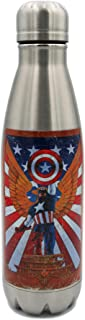 Marvel Swift Water Bottle- 17 oz. Stainless Water Bottle- Steel Double Wall Insulated and Vacuum Insulated, Cold for Up to 24 hours, BPA Free & Leak-Proof,Vintage Captain America