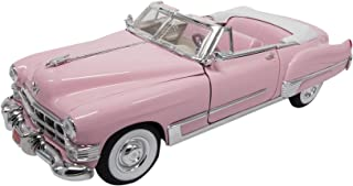 Road Signature 1949 Cadillac Coupe Deville Convertible, Pink - Lucky 92308 1/18 Scale Diecast Model Toy Car