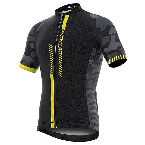 Men s Short Sleeve Cycling Jersey Full Zip Moisture Wicking 3c290c289