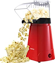 HIRIFULL Hot Air Popcorn Machine, Household Popcorn Maker for Healthy Snacks, 1200W Electric Popcorn Popper, No Oil, with ...