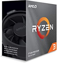 AMD Ryzen 3 3100 4 Cores 8 Threads 18MB Cache PCIe 4.0 7nm Desktop Processor with Max Boost of 3.9GHz and Wraith Stealth C...