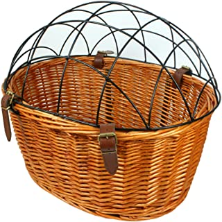 AORYVIC Wicker Dog Basket for Bikes Cat Carrier Pet Carrier