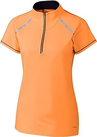Cutter & Buck Annika Women's Moisture Wicking Drytec UPF 50+ Cap Sleeve Mock Neck Shirt
